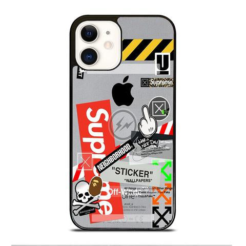 Custodia Cover iphone 12 pro max mini OFF WHITE SUPREME
