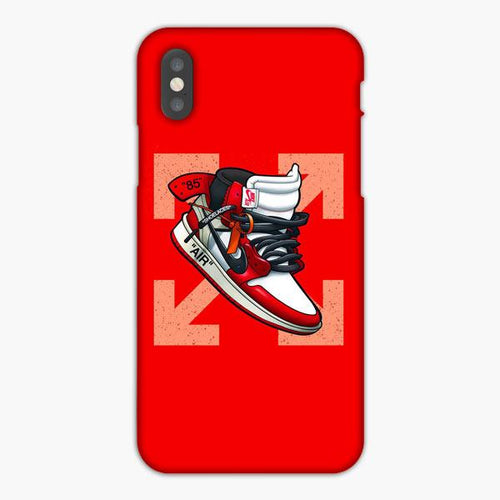 Custodia Cover iphone X XS Max XR Off White X Air Jordan Shoelaces