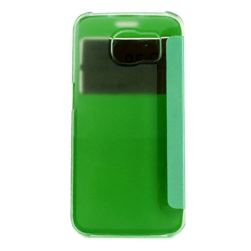 CUSTODIA COVER VIEW ECO PELLE VERDE FLIP PER SAMSUNG GALAXY S6 EDGE SM-G925
