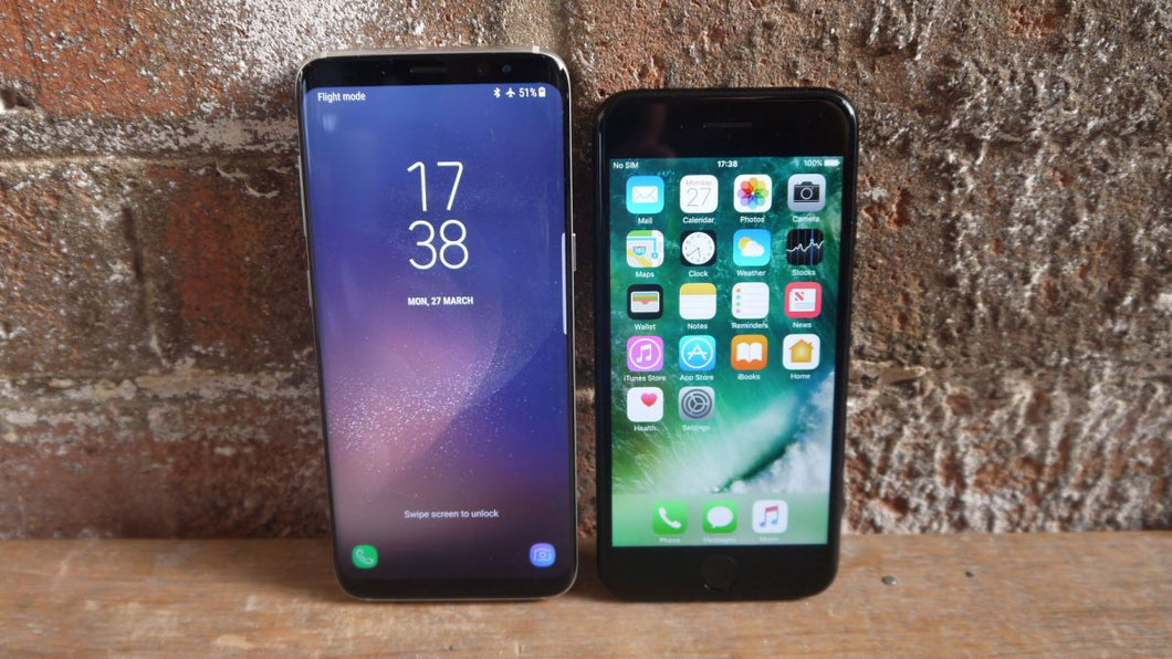 SAMSUNG S7 S8 S8 AND IPHONE