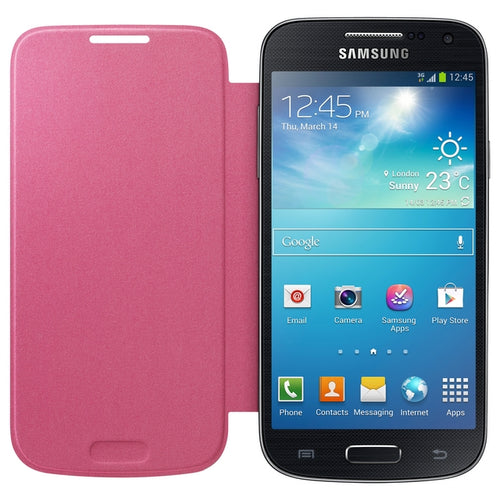 SAMSUNG CUSTODIA FLIP-COVER BOOK-CASE ORIGINALE GALAXY S4 MINI I9190 PINK  ROSA