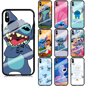 Stitch Cartoon Pattern Hard Back custodia
