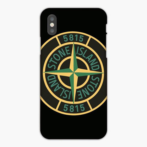 Custodia Cover iphone X XS Max XR Stone Island 5815 Logo