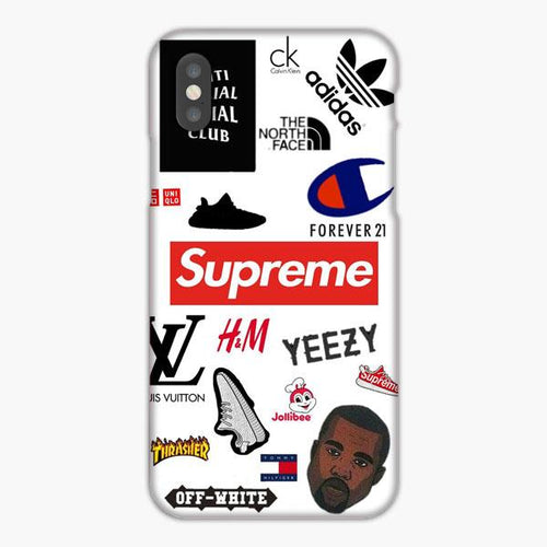 Custodia Cover iphone X XS Max XR Supreme Off White Adidas