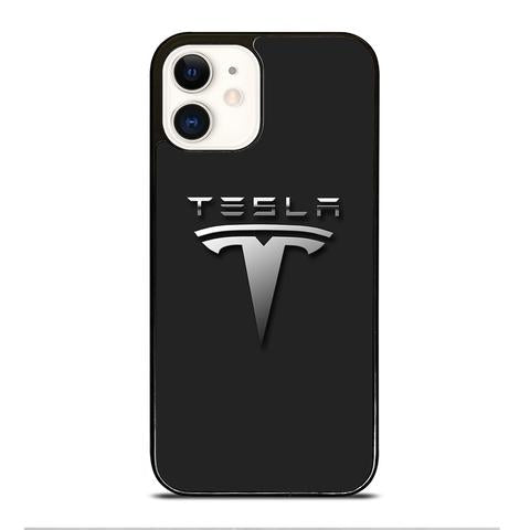 Custodia Cover iphone 12 pro max mini TESLA CAR LOGO