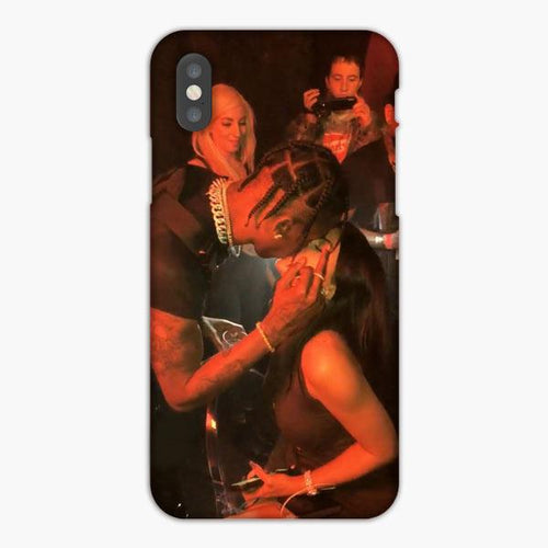 Custodia Cover iphone X XS Max XR Travis Scott Kylie Jenner Kisses