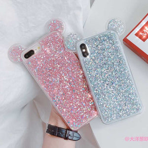 Xs max Xs XR X Bling custodias Mouse Ear