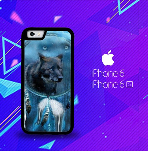 WOLF DREAM CATCHER F0247 custodia cover iPhone 6, iPhone 6S