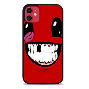 Custodia Cover iphone 11 pro max Super Meat Boy Face Video Game Z0916 Case