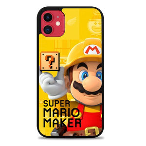 Custodia Cover iphone 11 pro max super mario maker yellow Z3516 Case