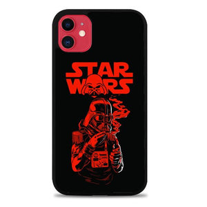 Custodia Cover iphone 11 pro max Smoking Vader Star Wars Movies Z3651 Case