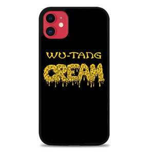 Custodia Cover iphone 11 pro max wu tang cream logo Z3728 Case