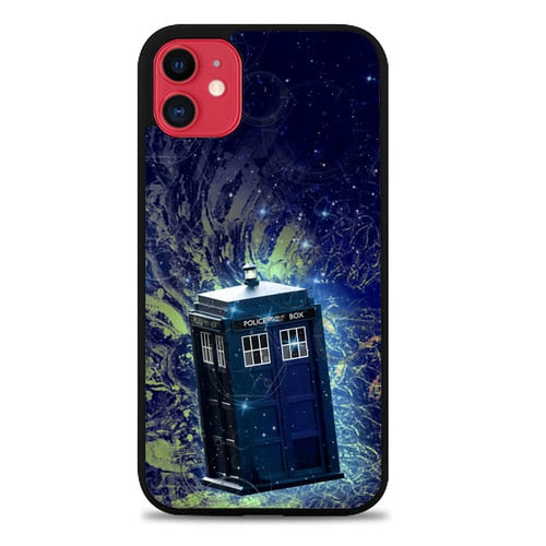 Custodia Cover iphone 11 pro max DOCTOR WHO TARDIS POLICE BOX Z4362 Case