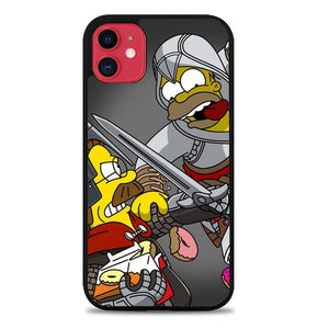 Custodia Cover iphone 11 pro max Simpsons Assassin's Creed Z4594 Case