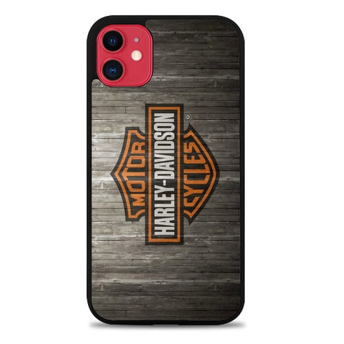 Custodia Cover iphone 11 pro max Harley Davidson Wood Logo Z4753 Case