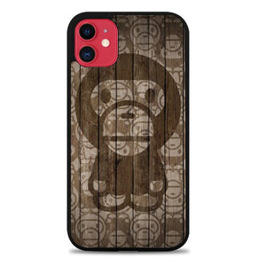 Custodia Cover iphone 11 pro max baby milo on wood Z5225 Case