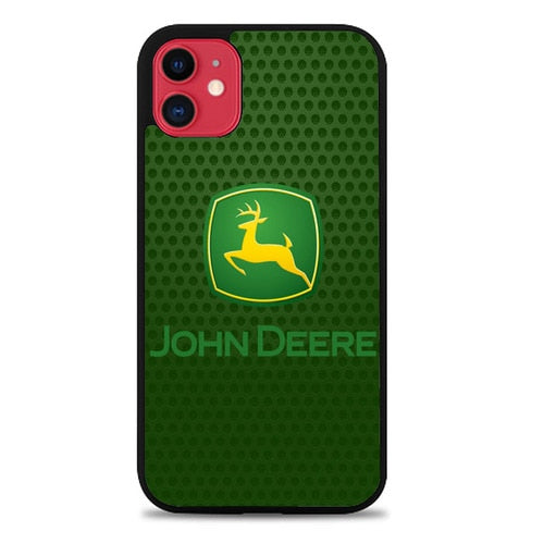 Custodia Cover iphone 11 pro max john deere logo carbonZ5353 Case