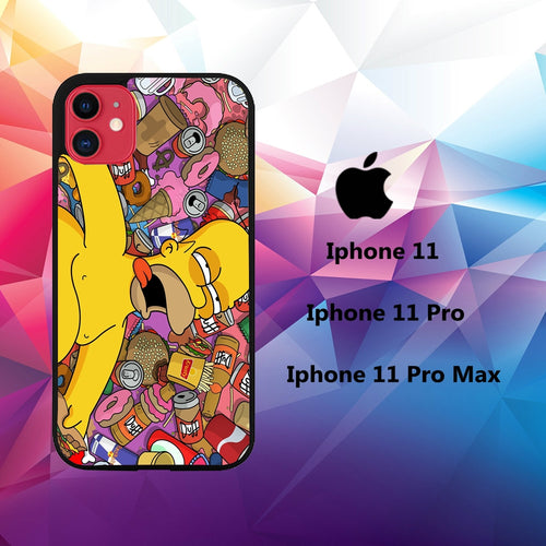 cover custodia case iphone 11 H5787 simpson wallpaper 58nN1