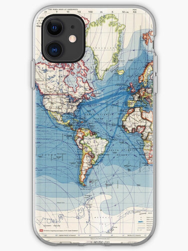 cover iphone 11 digital world map