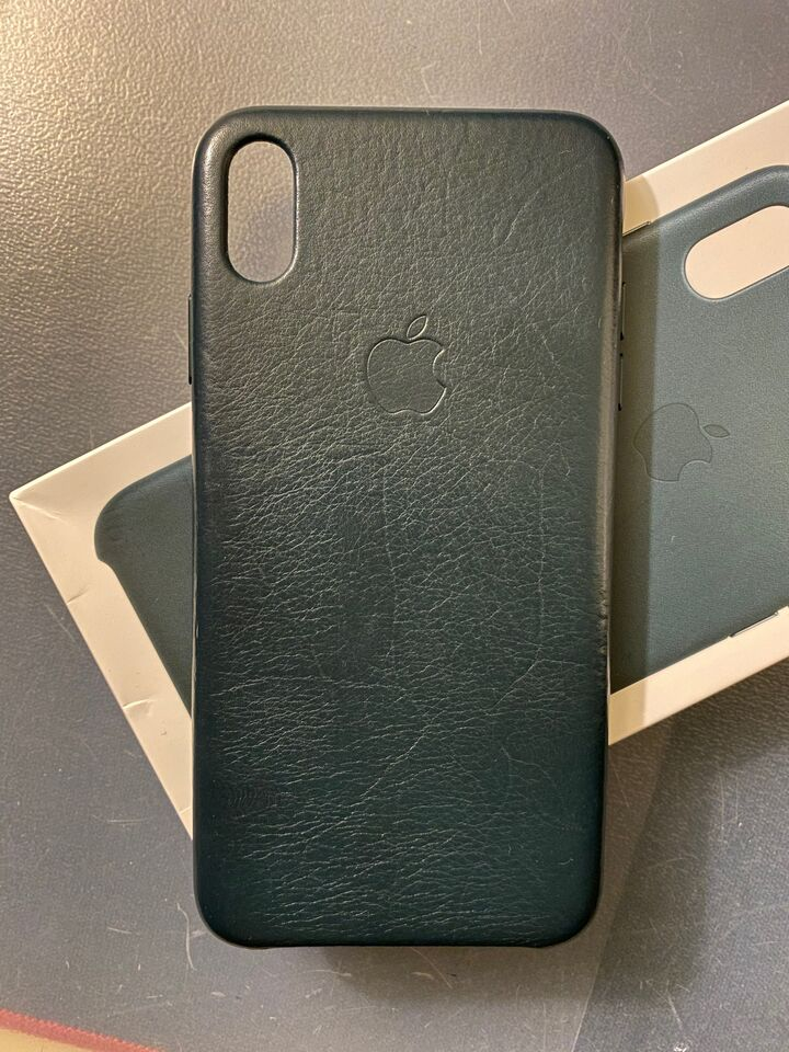 custodia in pelle per iphone xs - verde foresta