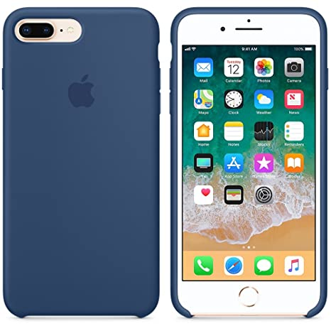 custodia silicone blu cobalto iphone 8 plus
