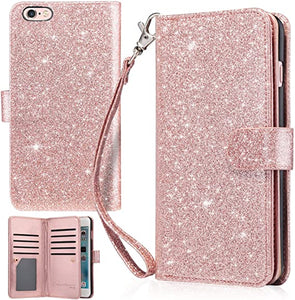 "iPhone 6 PLUS 5.5"" Wallet Glitter Cover"