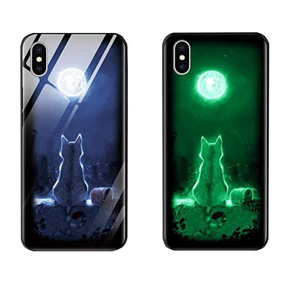 iphone xs glow in the dark custodia