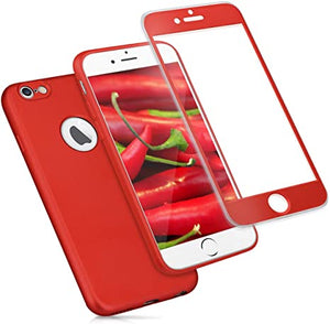 ivencase Custodia iPhone 6 6S Rosso Cover iPhone 6S Ultra Sottile