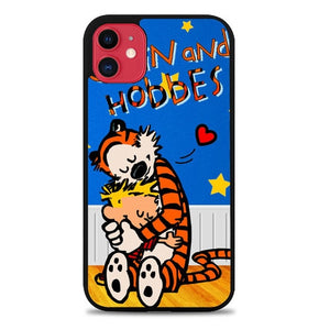 Custodia Cover iphone 11 pro max calvin and hobbes love L0427a Case