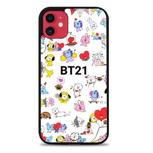 Custodia Cover iphone 11 pro max BT21 Pattern Wallpaper L0667 Case