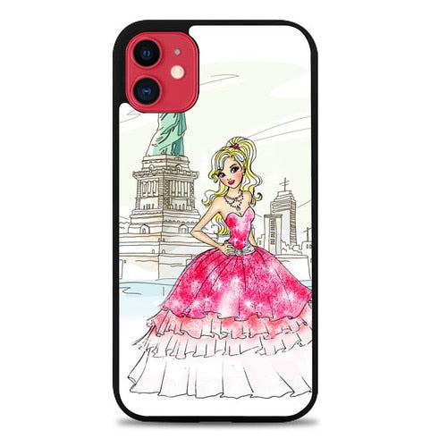 Custodia Cover iphone 11 pro max barbie girl liberty vector L1070 Case