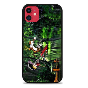 Custodia Cover iphone 11 pro max Calvin and Hobbes Play Comic Strip Jump L1219 Case