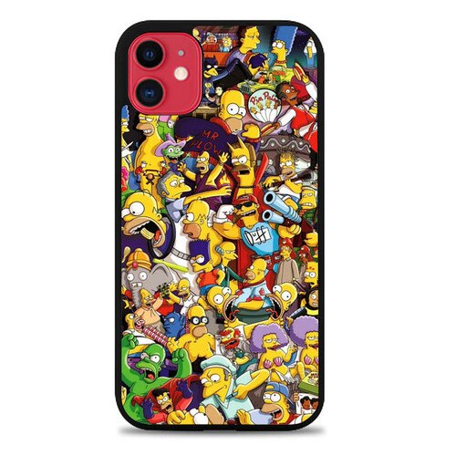 Custodia Cover iphone 11 pro max The Simpsons Collage L3019 Case