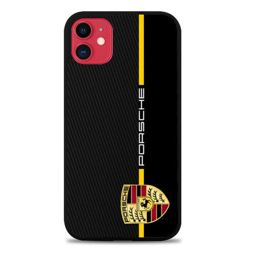 Custodia Cover iphone 11 pro max Porsche Stripe Carbon W4947 Case