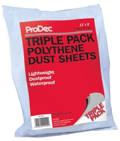 Prodec 12' x 9' - 3 Pack Poly Dust Sheet
