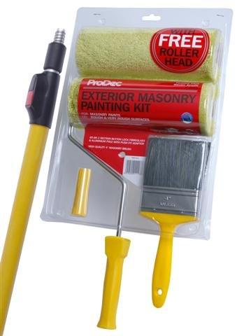 ProDec Exterior Masonry Painting Kit with Extension Pole