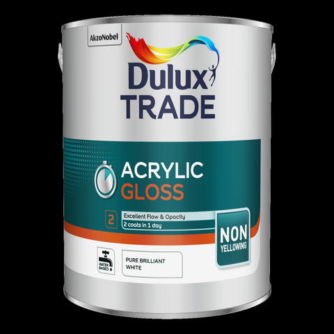 Dulux Trade Acrylic Gloss Pure Brilliant White