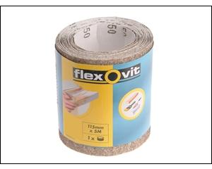 Flexovit General Purpose Sanding Roll 115mm x 5m