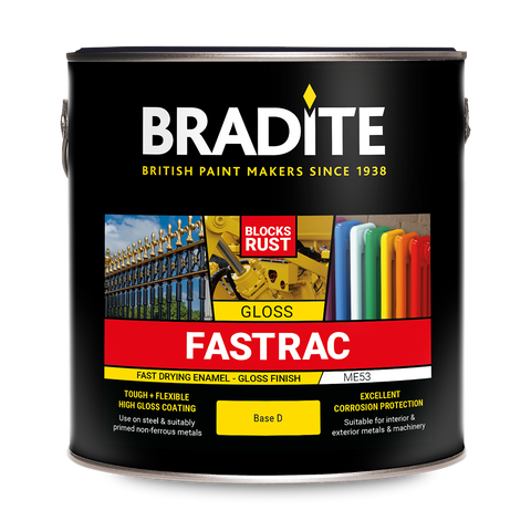 Bradite Fastrac Enamel ME53 (Gloss) SE53 (Satin) Fast Drying Finish