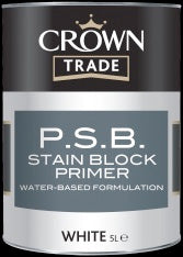Crown Trade PSB Stain Block Primer - White