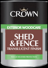 Crown Shed & Fence Translucent Finish