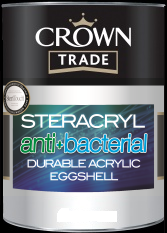 Crown Trade Steracryl Anti Bacterial Durable Acrylic Eggshell