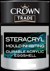 Crown Trade Clean Extreme Mould Inhibiting (Steracryl) Durable Acrylic Eggshell