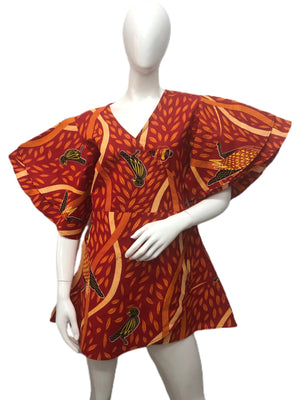 African Wrap Around Top