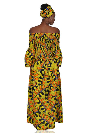 Ankara Long Maxi Dress