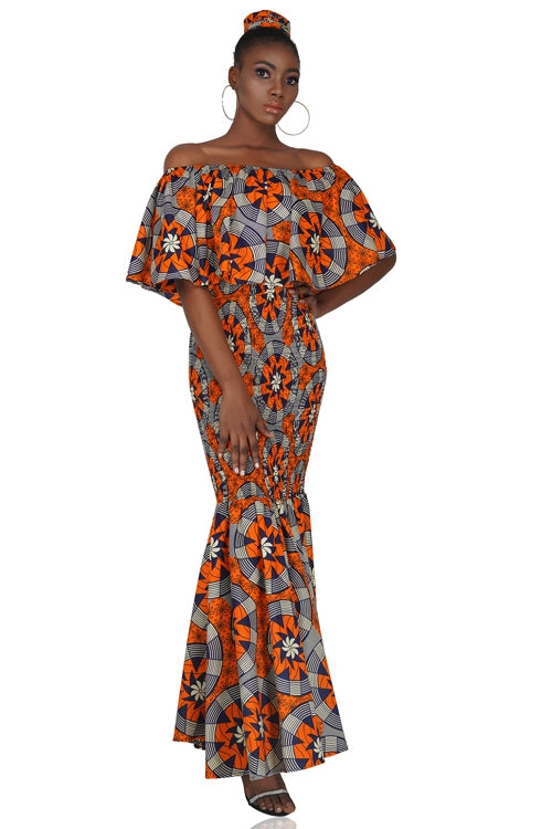 Ankara Long Smoked Mermaid/Fish Tail Dress