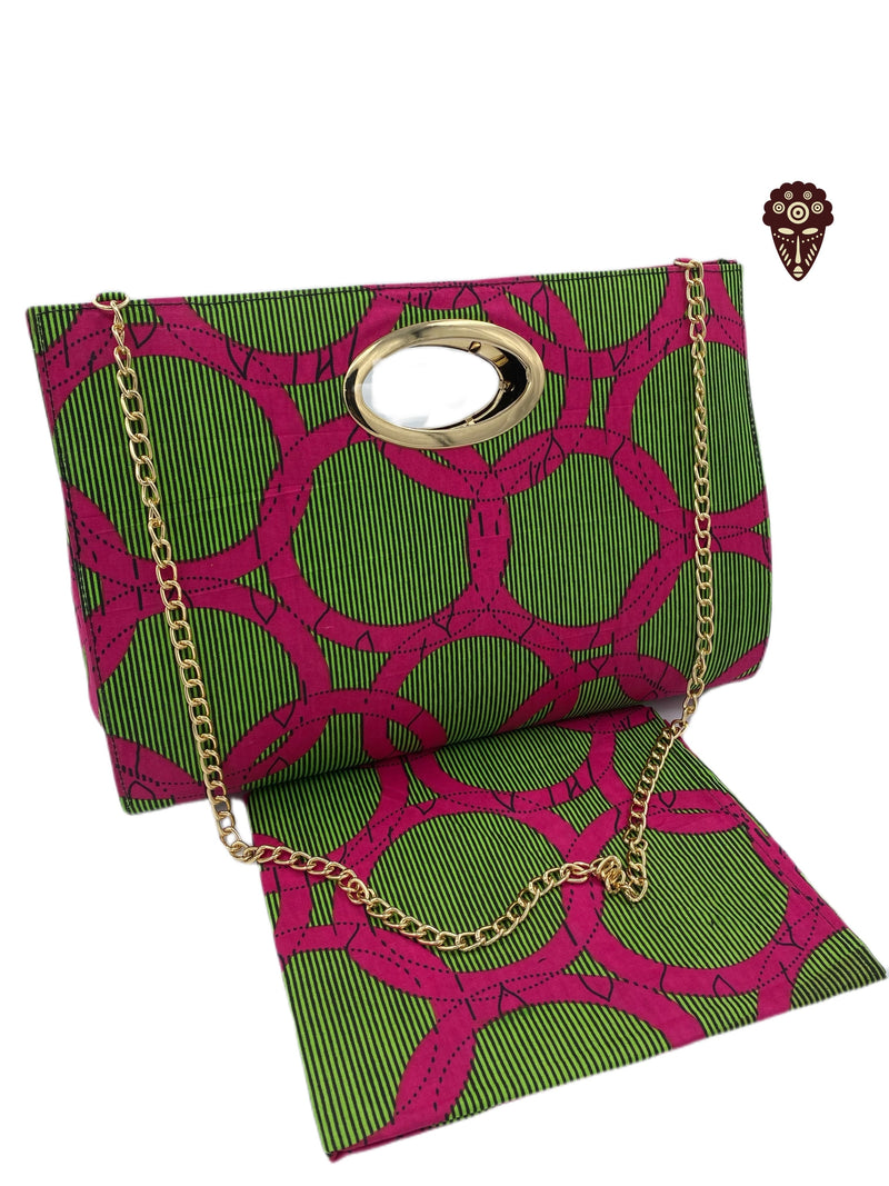 African Print Handbag with Headwrap