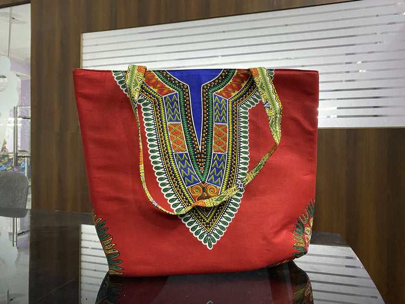 Ankara Dashiki  Tote Bag