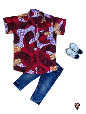Ankara Shirt For Boys