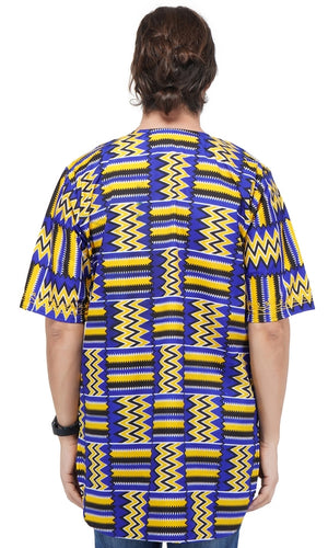African Print Kente Embroidered Dashiki